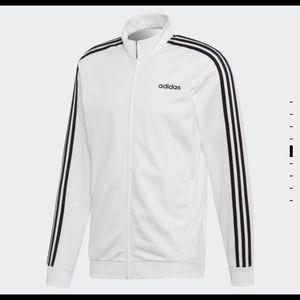 New White XL Adidas 3-stripes Tricot Track Jacket